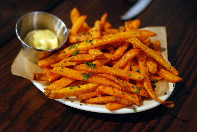 Cooking for Students Garlic and Parmesan Sweet Potato Fries