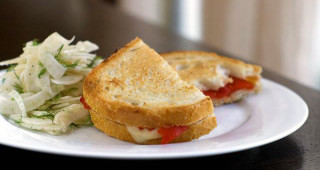 Cooking for Students Roasted Red Pepper Grilled Cheese