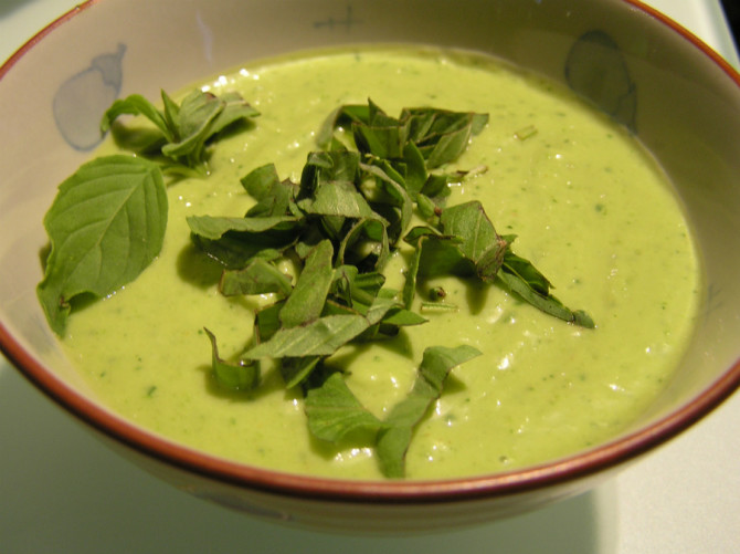 Cooking for Students Chilled Avocado Soup and Crostini
