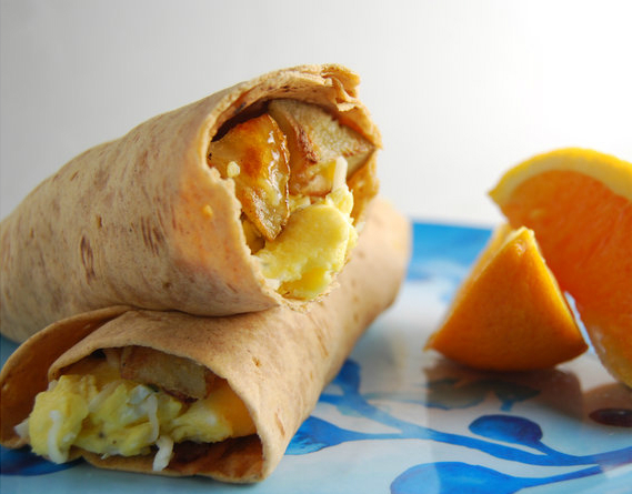 Cooking for Students Egg and Potato Breakfast Burrito