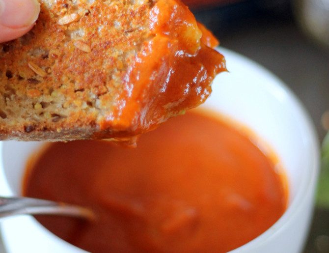 Cooking for Students Tomato Soup and Grilled Cheese